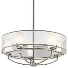 kichler 5 light chandelier classic pewter transitional chandeliers