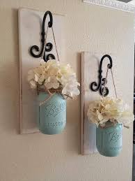 How To Use Mason Jars For Decorating First Rate Mason Jar Wall Decor Plus Best 100 Sconce Ideas On 59