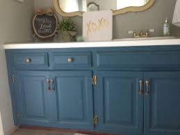 painting bathroom vanity with chalk paint