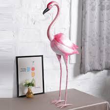 tickled pink flamingo bird figurine