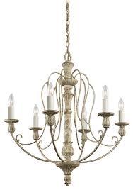 hayman bay 6 light chandelier in distressed antique white