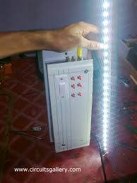 working of emergency light charger circuit