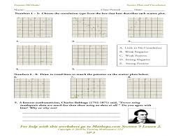 scatter plots worksheets middle school | Guillermotull.COM