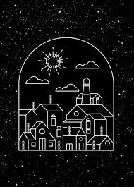 Town Background Dark Design Geometric Sketch Free Vector In Adobe