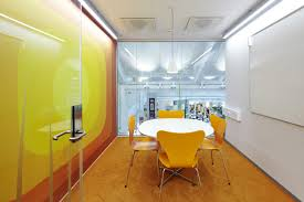 Yellow Office Yellow Meeting Booth Interior Design Ideas