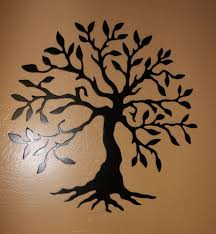 on wall art metal tree of life with olive tree tree of life black 14 metal wall art decor ebay