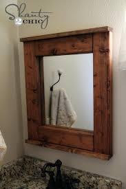mirror wood frame wood framed bathroom mirrors diy large wood mirror frame