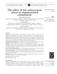 Pdf The Effect Of Law Enforcement Stress On Organizational