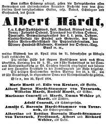 Albert Ii Hardt (1823 - 1894) - Genealogy