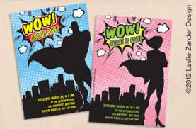 4 Of The Coolest Superhero Invitations For Your Little Dreamer