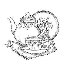 teacup and teapot drawing. Fine Teapot Hand Made Sketch Of Tea Sets Vector Illustration In Vintage Style On Teacup And Teapot Drawing N