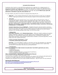Grad School Resume Template Graduate Admissions Sample O Of