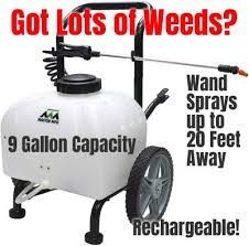 battery powered garden sprayer on