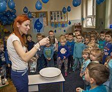 world water day  children in ukraine learn about water in a classroom they ve decorated blue waterdrop balloons to celebrate world water day in 2016