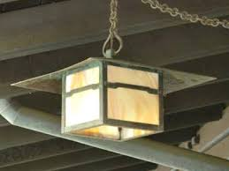 arts crafts outdoor hanging lighting and