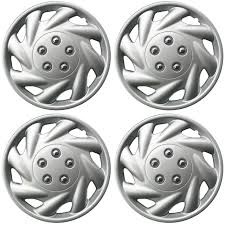 4 Piece SET Hub Caps ABS Silver 15