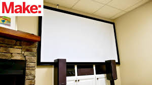 crafted work how to build a diy projector screen
