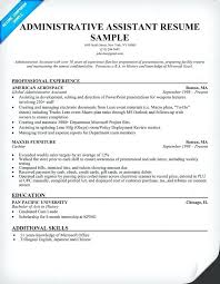 Examples Of Administrative Assistant Resumes Admin Objective