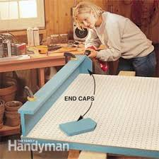 Pegboard storage bins Pegboard Hook Photo 3 Attach End Caps Garage Storage Projects Diy Pegboard Storage Family Handyman