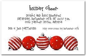 Silver Red Ornaments Holiday Invitations