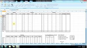 Excel Statistics Template Excel Hockey Stats Tracker Youtubetics Spreadsheet Volleyball Sheet