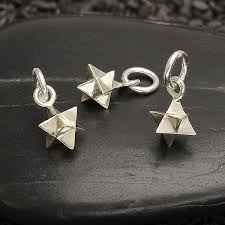 sterling silver small merkabah charm sacred geometry charm