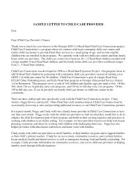 Child Care Provider Letter Of Reference Letter Idea 2018