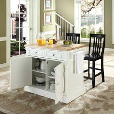 Furniture Kitchen Island Crosley Furniture Kf300062wh Oxford Butcher Block Top Kitchen