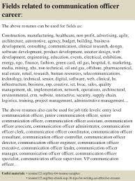 Free Job Resume Custom Top 48 Communication Officer Resume Samples