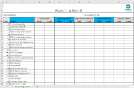 Bookkeeping Journal Template Accounting Journal Excel Template Templates At