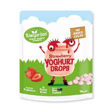 Sữa chua khô Kiwigarden không thêm đường vị Dâu tây – New bánh cho bé ăn dặm