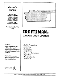 chamberlain garage door troubleshootingCraftsman Garage Door Opener 13953677SRT1 User Guide