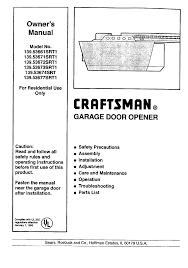 craftsman garage door opener 139 53671srt1 user guide manuals com
