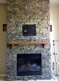 decor simple ideas fireplace stone tile stacked stone tile