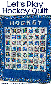 Lets Play Hockey Quilt | Hidden Treasure Crafts and Quilting & Lets Play Hockey Quilt Adamdwight.com