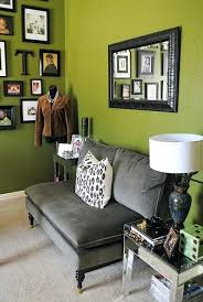 living room olive green accent wall