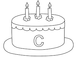 Small Picture Birthday Cake Coloring Page Cake Coloring Pages Alphabet C