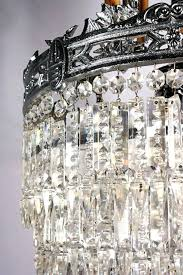 vintage glass chandelier crystals superb antique six tiered chandelier with crystal prisms details for chandeliers at home depot