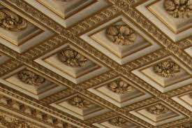 A coffer in architecture is a sunken panel in the shape of a square,  rectangle, or other geometric shape in a ceiling or vault.