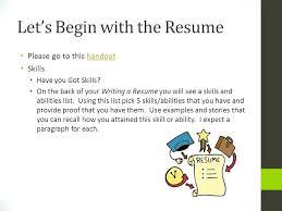 List Of Skills And Talents Skills And Talents For Resume Lets Begin With The Resume Skills