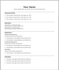 Free Download Simple Resume Format Free Basic Resume Templates