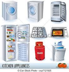 kitchen appliances clipart. Brilliant Appliances Kitchen Appliances  Csp7121925 For Clipart Can Stock Photo
