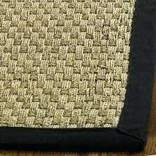 sisal rugs runners casual natural fiber hand woven sisal natural black runner x 6 by sisal sisal rugs