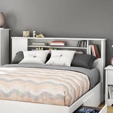 white queen bookcase headboard. Perfect Bookcase Fusion Full  Queen Bookcase Headboard Finish Pure White Throughout E