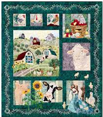 360 best BARN'S IN FABRIC images on Pinterest | Patchwork, Cows ... & And On that Farm Quilt Kit featuring Hoffman Fabrics and McKenna Ryan  Designs Quilt Patterns Adamdwight.com