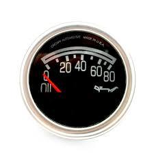 crown tachometer crown oil pressure gauge non chrome