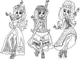 Small Picture Monster High Coloring Pages Archives At Monster High School