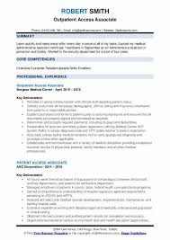 My Borgess Health Chart Patient Access Associate Resume Samples Qwikresume