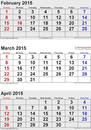 Calendars For June And July 2015 April 2015 Calendars For Word Excel Pdf