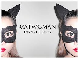 if you need a quick idea for the costume you can try this easy catwoman inspired look